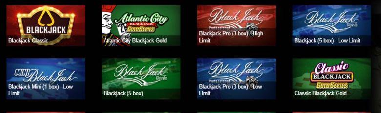 Betiven blackjack valikoima
