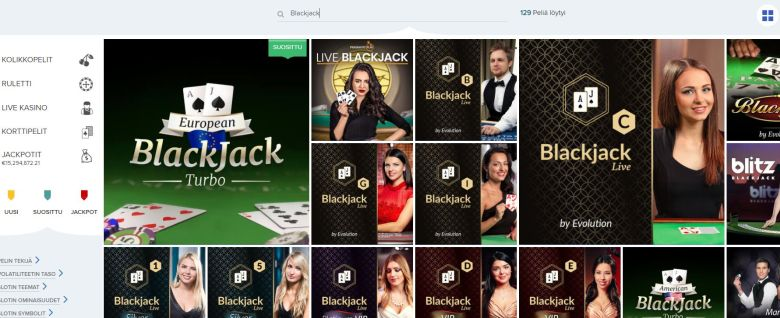 Blackjack ja Ahti Games